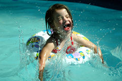 Children- Splashing Girl stock images