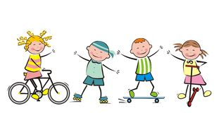 Children and sport Royalty Free Stock Images