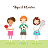 Children With Sport Instruments Royalty Free Stock Photos