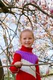 Children in spring park royalty free stock photo