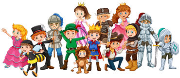Children in stage costume Royalty Free Stock Photography