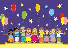 Children on stage Royalty Free Stock Image