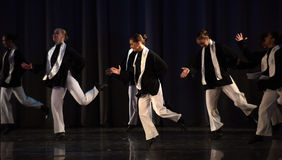 Children on the stage Jewish dance Stock Photography