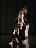 Children on the stage Jewish dance. Stage performance of contemporary dance group, St. Petersburg, Russia Stock Images