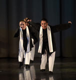 Children on the stage Jewish dance Stock Images