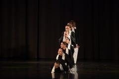 Children on the stage Jewish dance Stock Image