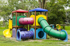 Children Stairs Slides equipment Royalty Free Stock Images