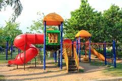 Children Stairs Slides equipment. Children Stairs Slides equipment in public park royalty free stock image