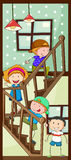 Children and stairs Royalty Free Stock Images