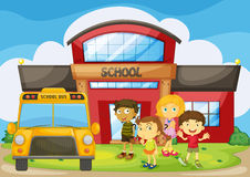 Children standing in the school campus Royalty Free Stock Photography