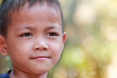 Children stare. At roi ed thailand Stock Images