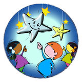 Children with stars Royalty Free Stock Photo