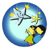 Children with stars Royalty Free Stock Photos