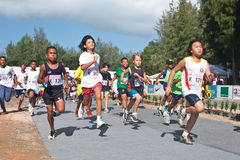 Children starting the marathon Royalty Free Stock Images