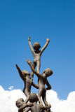 Children statue on the. Hope children statue on the blue sky background Royalty Free Stock Photography
