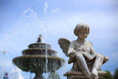 Children statue with wings in Verona Royalty Free Stock Image