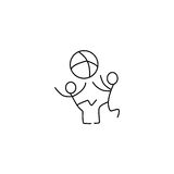 Children stick figures icon  Royalty Free Stock Images