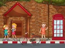Children on street Stock Photo