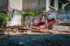 Children on the street in Istanbul, Turkey Stock Image