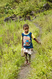 Children on the street in Wamena, New Guinea Island, Indonesia . Royalty Free Stock Images