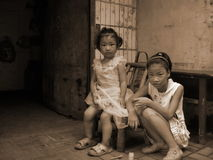 Children on the streets in China, Royalty Free Stock Images