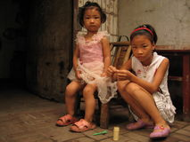 Children on the streets in China, Stock Photo