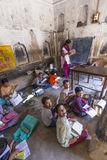 Children study in village's school Royalty Free Stock Photography