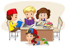 Children studying in the classroom Royalty Free Stock Photo