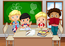Children studying in the classroom Stock Photos