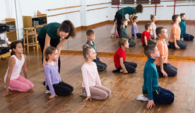 Children studying contemp dance Stock Photography