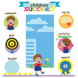 Children succeed Royalty Free Stock Images