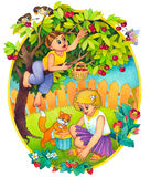 Children in the summer royalty free illustration