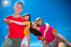 Children in summer. Children having fun under the bright summer sun Stock Photo