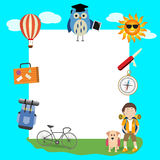 Children in the summer camp background Royalty Free Stock Photo