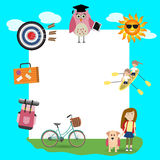 Children in the summer camp background Stock Image