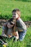Children in summer day. Stock Photo