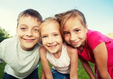 Children at summer royalty free stock photo