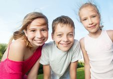 Children at summer royalty free stock photos