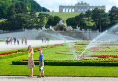 Children in summer city park Royalty Free Stock Photos