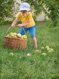 Children during summer vacation helps their parents to do chores. stock image