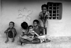 Children of the Sundarban-India Stock Photos