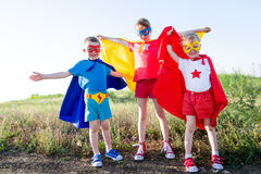 Children super hero Stock Photography