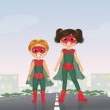 Children superheroes Stock Photos