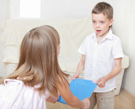 Children swear Royalty Free Stock Images