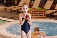 Children in swimming-pool Stock Image