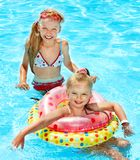 Children  in swimming pool. Stock Image