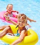 Children  in swimming pool. Stock Photo