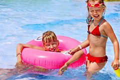 Children  in swimming pool. Royalty Free Stock Photography