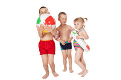Children in swimsuits Royalty Free Stock Photo