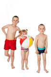 Children in swimsuits Stock Photo